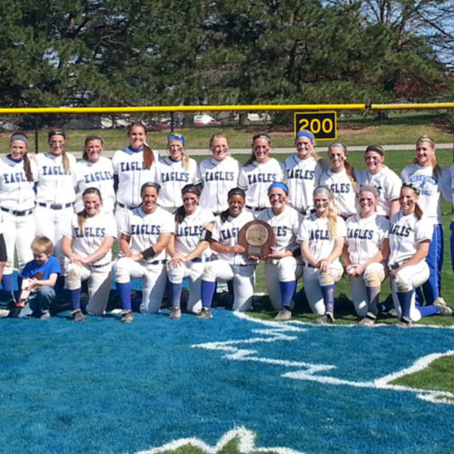 The Kirkwood Eagles softball team after winning the Region XI championship