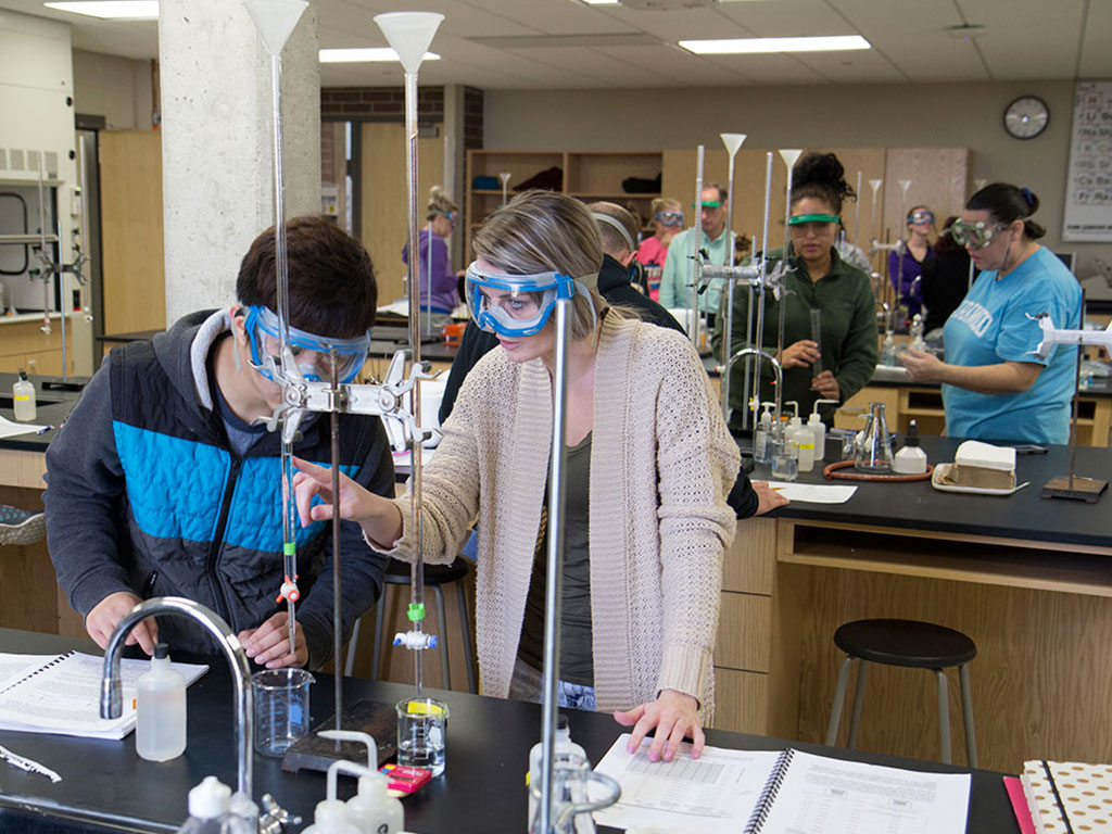students work in a STEM lab