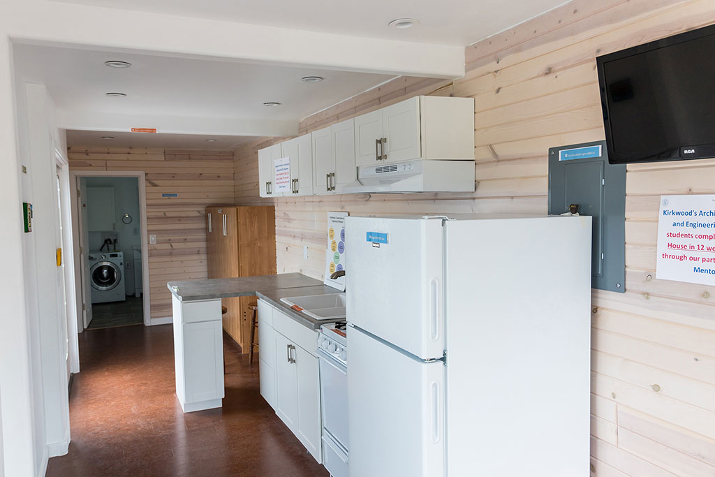 inside the Kirkwood student-built tiny house
