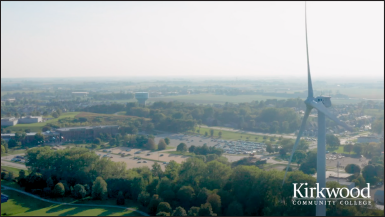 Kirkwood Community College Background Video Wind Turbine and Main Campus thumbnail